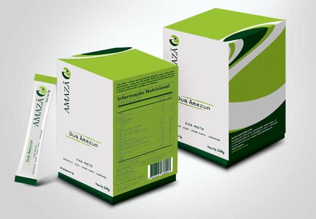 Arte para embalagem de suplementos