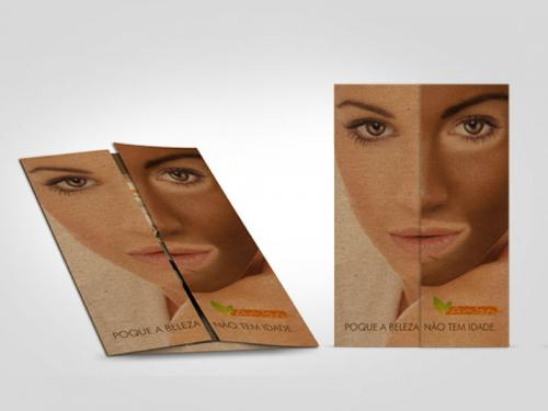 folder de apresentação de produto cosmetico