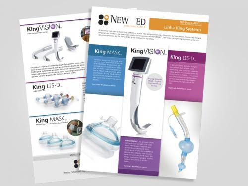 folheto gráfico para equipamentos médicos
