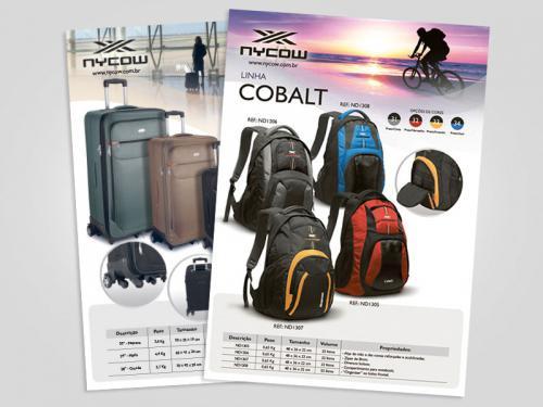 catalogo de bolsas e mochilas design gráfico
