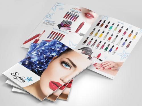 Catálogo de cosmeticos design gráfico