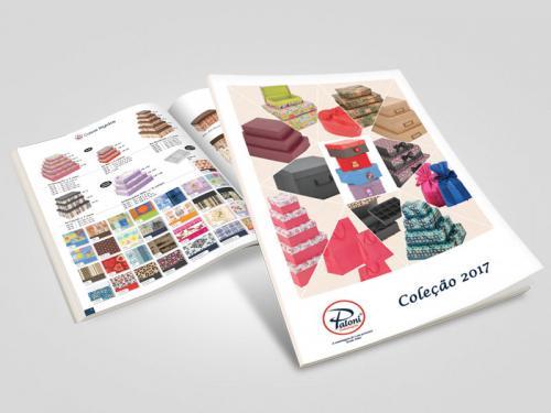 Criação de catalogo de embalagens e caixas de presente Paloni