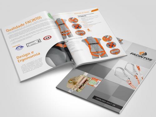Design gráfico catálogo de equipamentos de segurança
