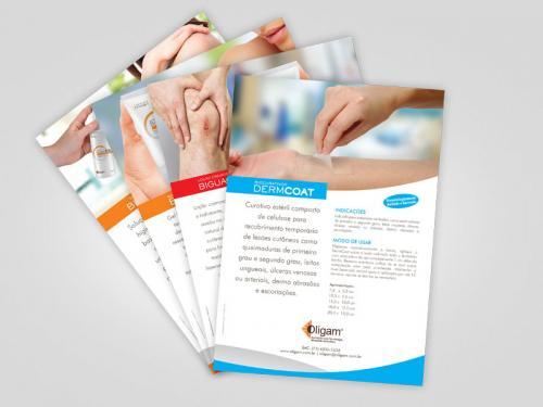 Folhetos e Catálogo para Hospitalar