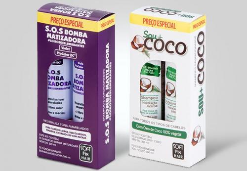 arte para caixa para kit shampoo aprdesigners