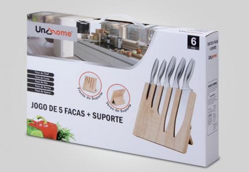 arte para embalagem para kit de facas importada aprdesigners