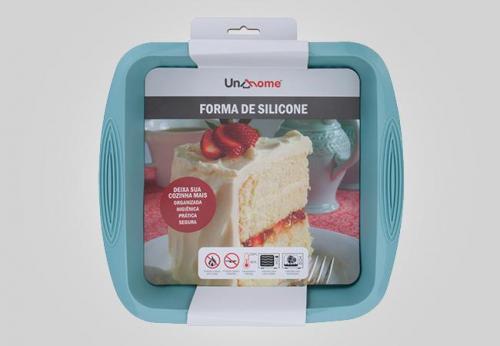 embalagem tipo cinta para forma de bolo